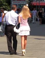 Прогулка с блондинкой