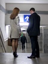 Знакомство в холле метро