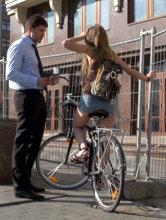 Знакомство с велосипедисткой