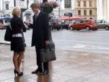 Быстрый пикап в дождливый день