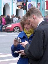 Обмен номерами телефонов на пикап-тренинге