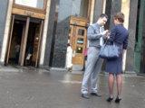 Пикап деловой дамы в центре Москвы