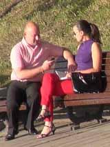 Общение с незнакомкой в минском парке
