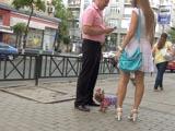 Пикап в Харькове: девушка с собачкой