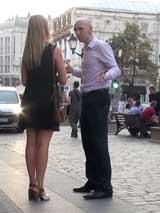 Пикап в Москве: вечернее знакомство с блондинкой