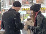 Позитивный пикап в снегопад