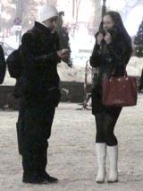 Зимний пикап: записываем телефон незнакомки