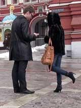 Пикап девушки в морозное московское утро